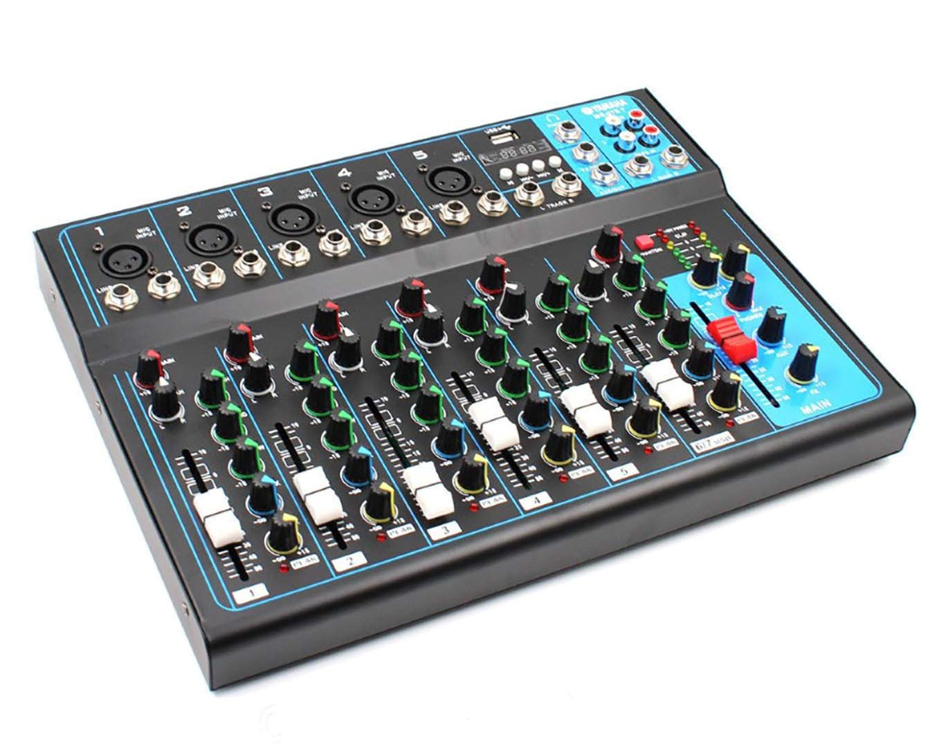 UKC Микшерный пульт MG 07BT Bluetooth/ USB Mixer MG 07BT